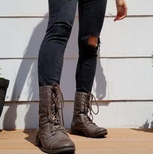 Brash Womens Combat Boots